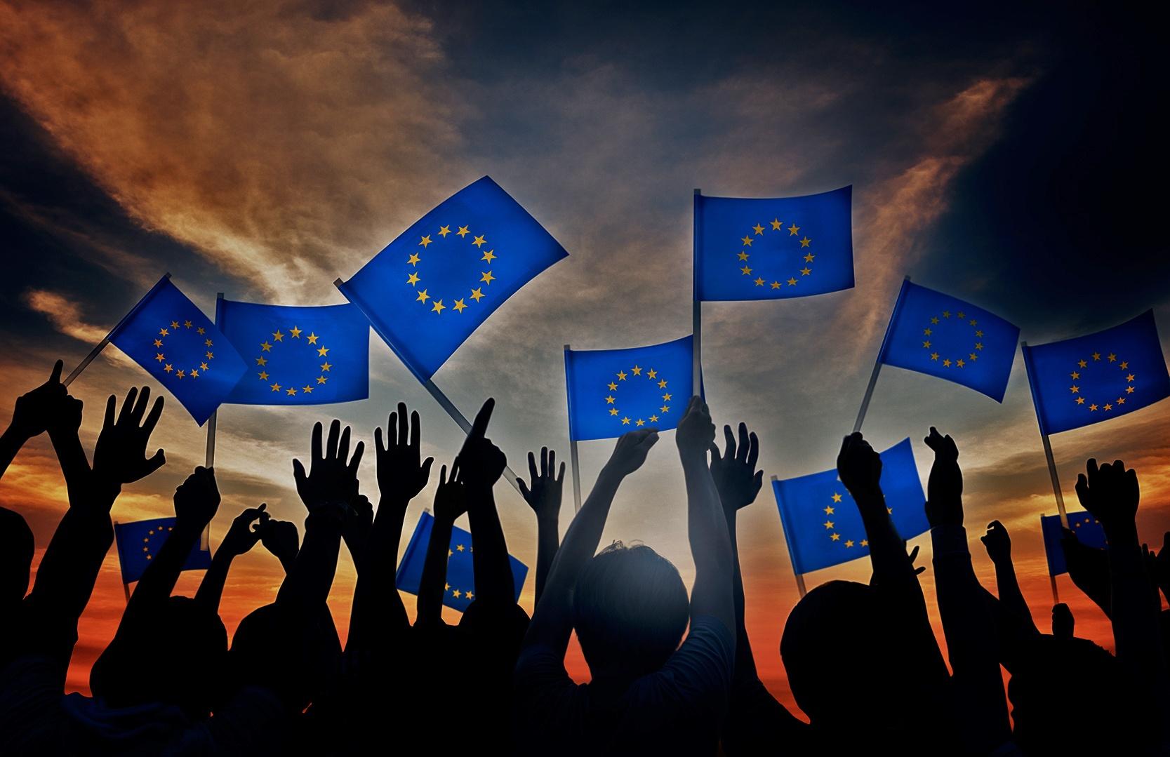 Festa dell'Europa celebrando l'Erasmus