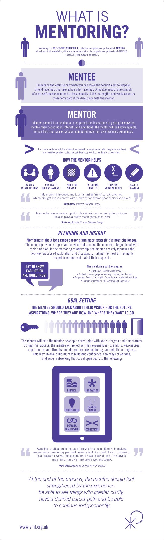 Infographic about mentoring