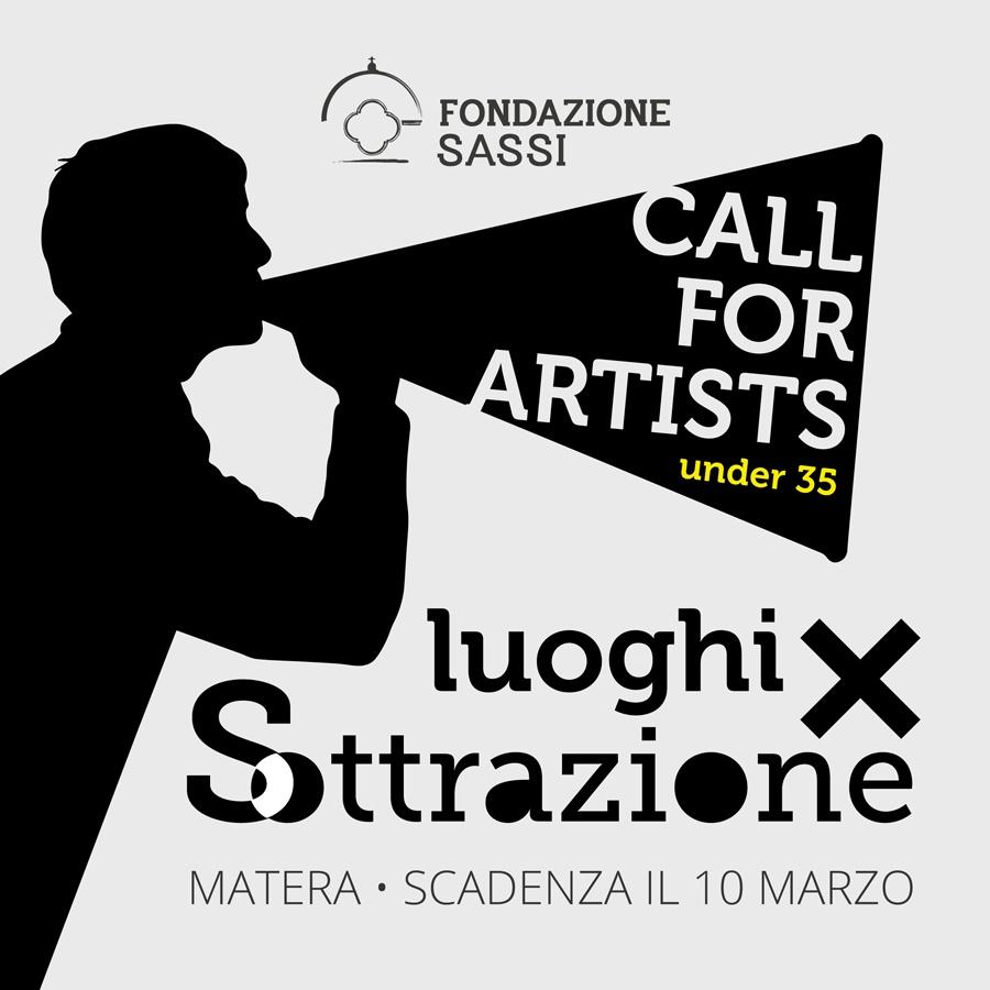 Luoghi per sottrazione: call per artisti under 35