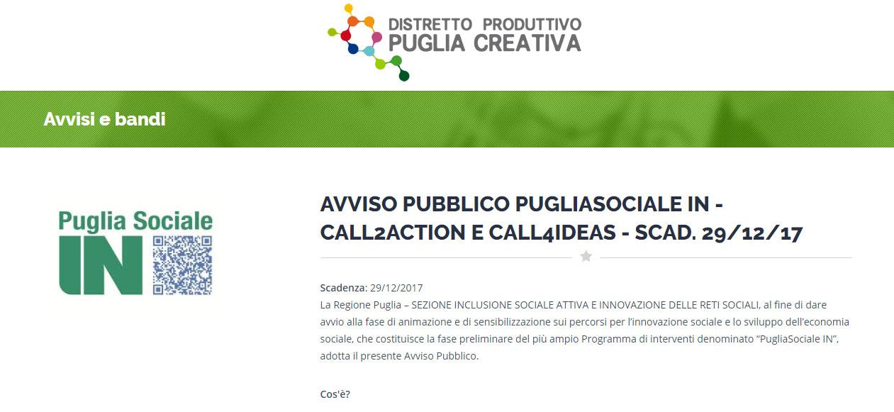 Seconda call per la Social Innovation Challenge della Regione Puglia
