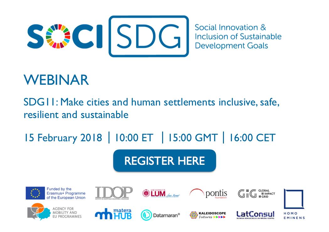 Progetto SOCI SDG: continua il lavoro su innovazione sociale e sviluppo sostenibile