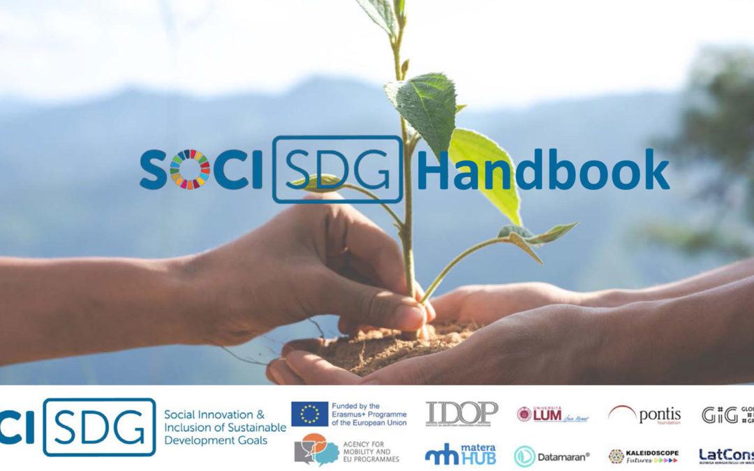 Progetto SOCI: disponibile il Manuale SDG