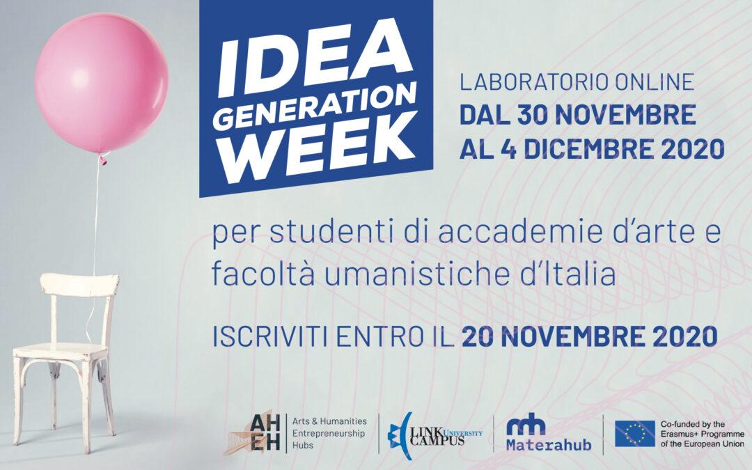 Idea Generation Week