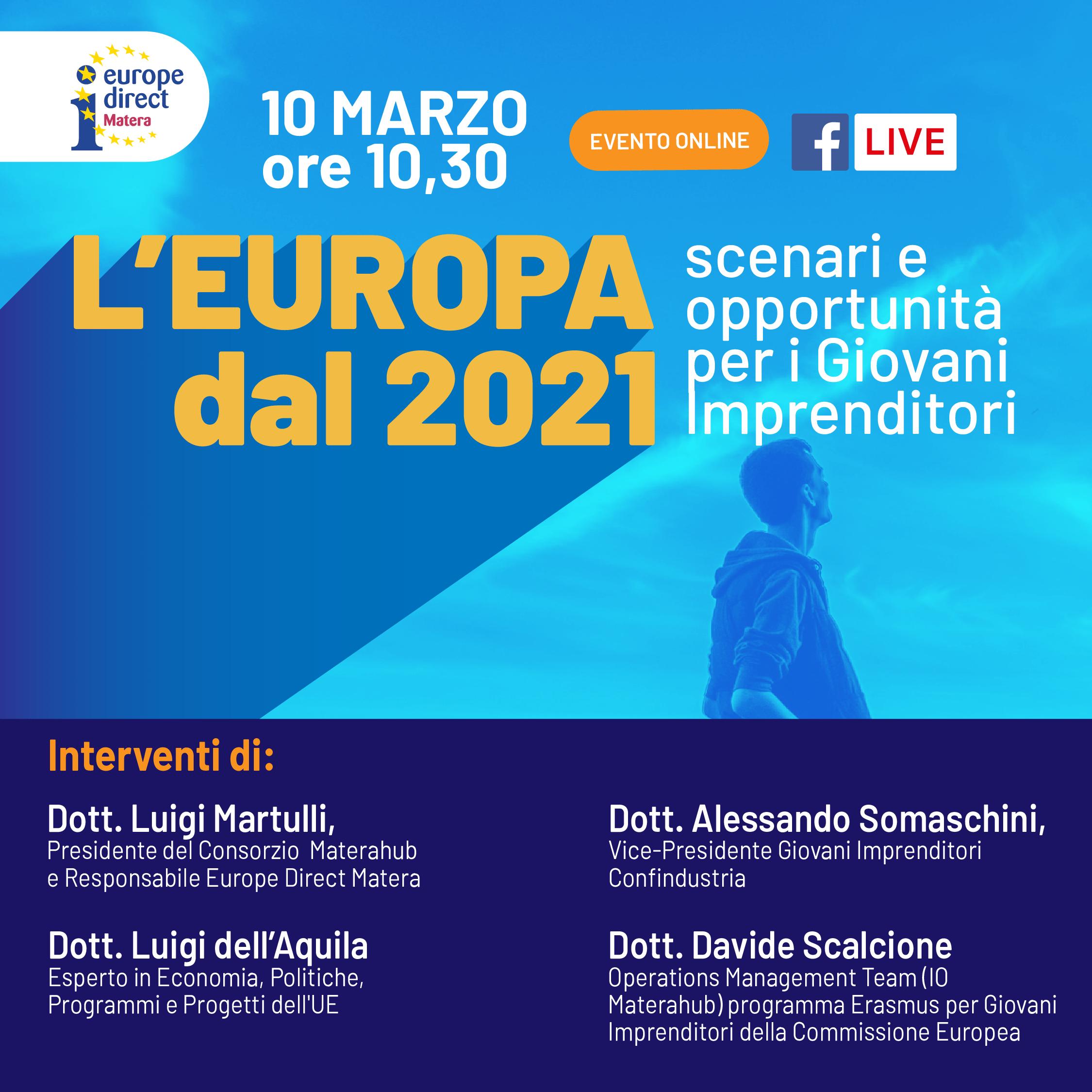 L'Europa dal 2021 - Scenari e opportunità per i Giovani Imprenditori